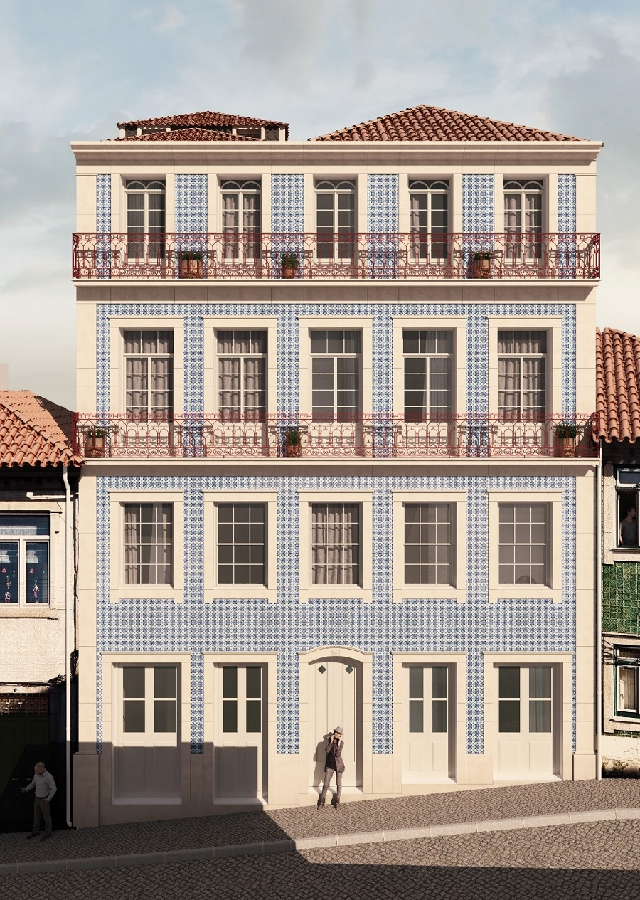 Edifícios reabilitados no Centro histórico de Gaia