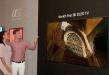 LG apresenta televisor OLED de 8K de grande dimensão na IFA 2018
