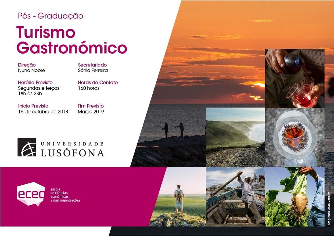 Nova Pós-Graduação em Turismo Gastronómico na Lusófona