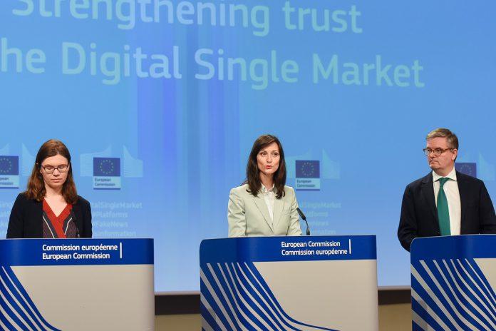Nathalie Vandystadt, Mariya Gabriel, Julian King, Membros da Comissão Europeia.
