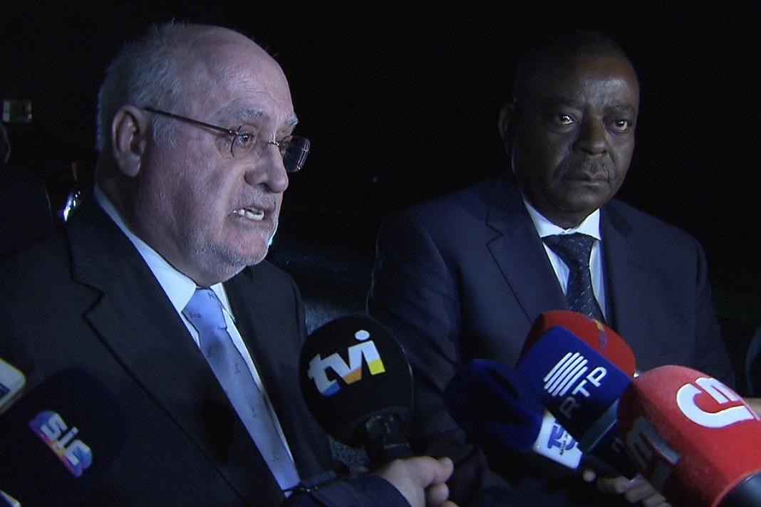 Ministro da Agricultura português, Luís Capolas Santos e Ministro da Agricultura de Angola, Marcos Alexandre Nhunga