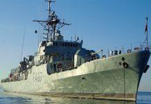 Corveta da Marinha João Roby em missão na Madeira