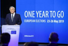 Eleições europeias em maio de 2019