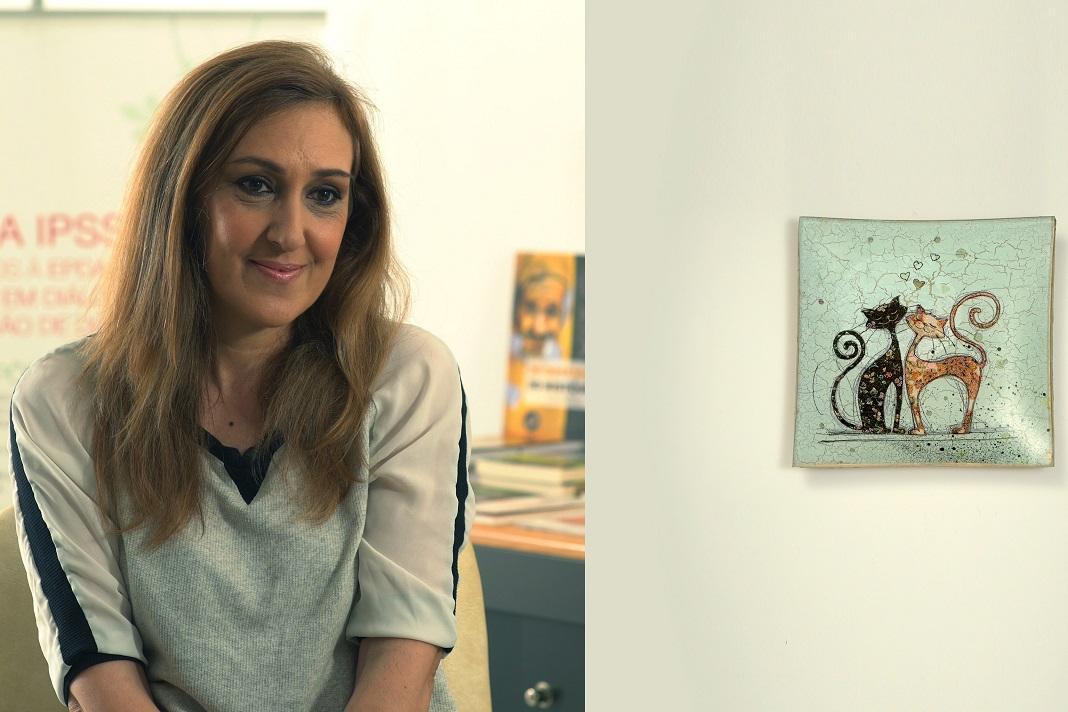 Exposição de arte de doentes de Parkinson,Carmen Santos
