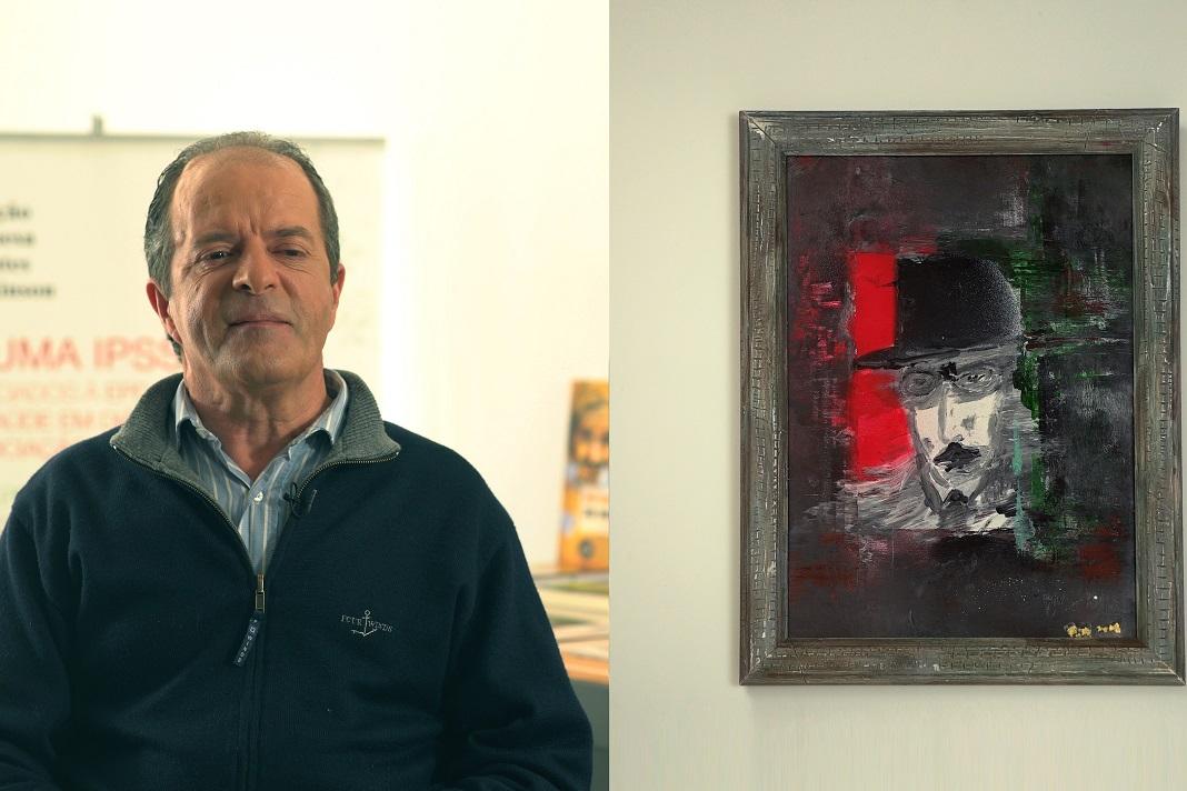 Exposição de arte de doentes de Parkinson, José Freire