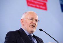Frans Timmermans do PSE lança, em Lisboa, campanha para presidente da Comissão Europeia
