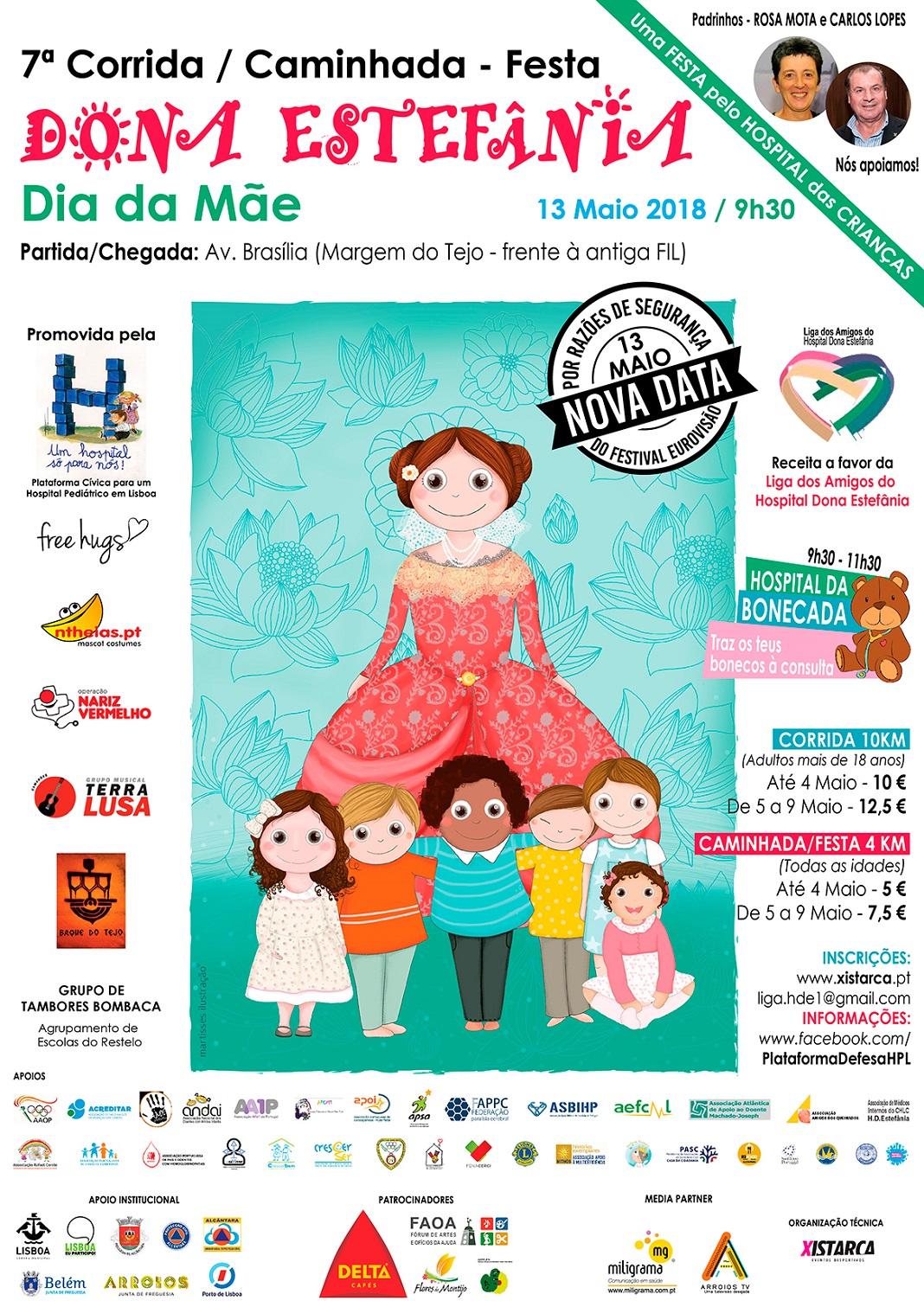 Festa Dona Estefânia com Corrida e Caminhada