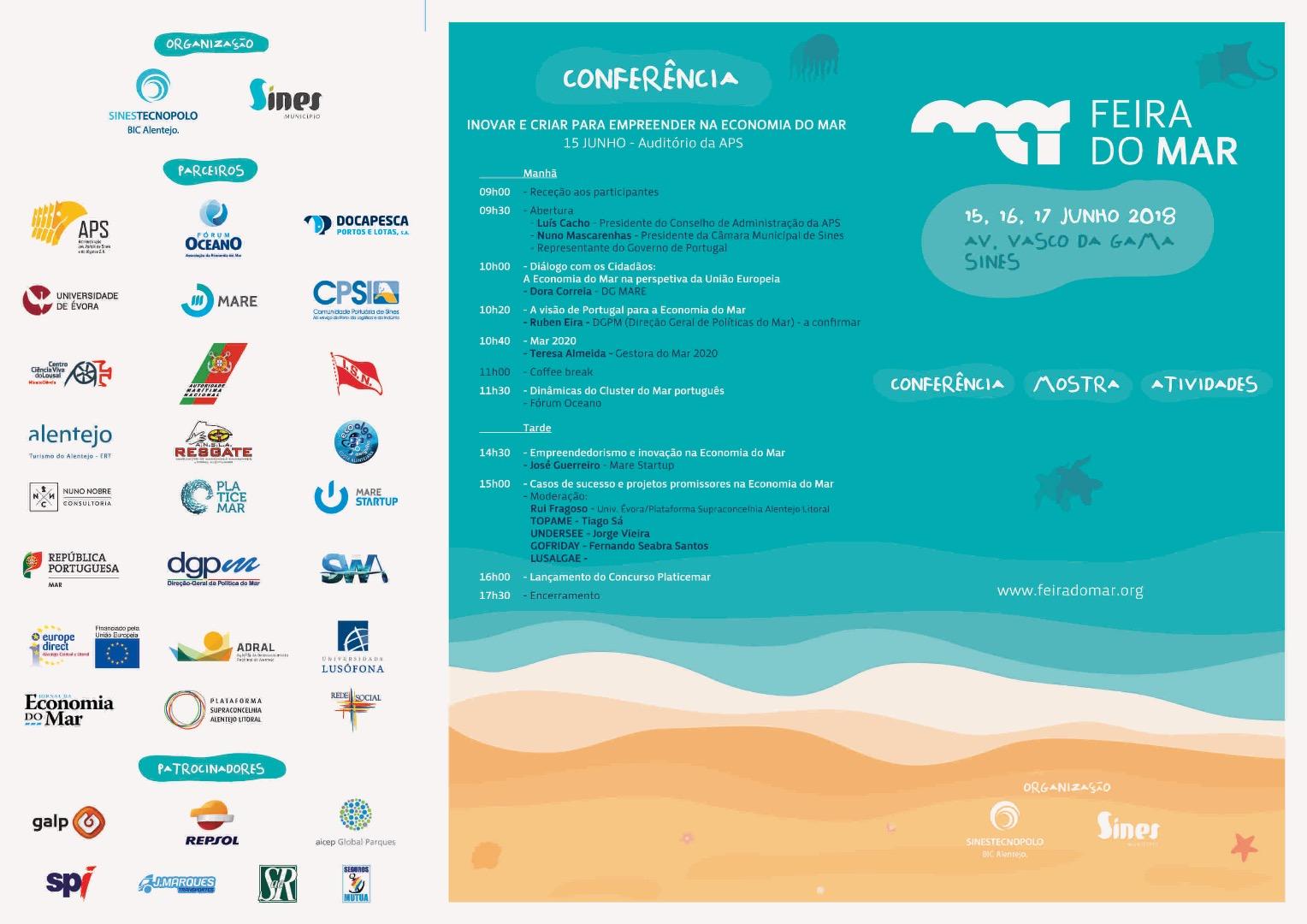 """Conferência """"Inovar e Criar para Empreender na Economia do Mar"""""""