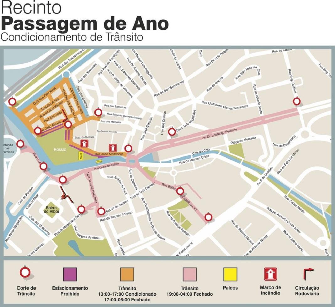 Festa de passagem de ano em Aveiro condiciona trânsito