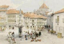 Largo do Paço, pintura de George Vivian, 'Scenery of Portugal & Spain'