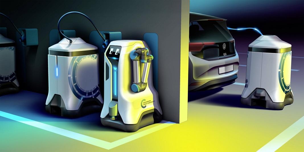 Carregamento dos carros elétricos será feito por robôs