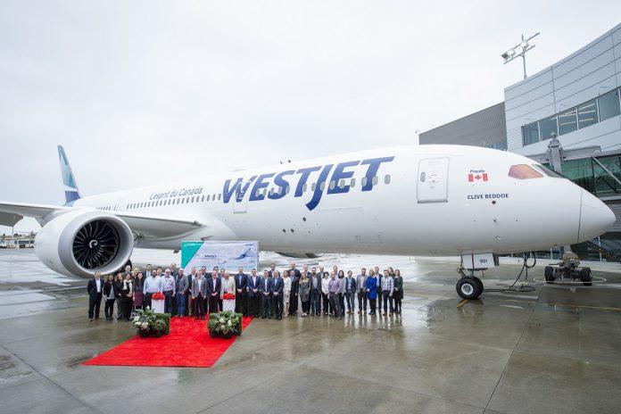 Boeing entrega primeiro 787 Dreamliner à WestJet