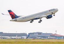 Primeiro Airbus A330neo da Delta Air Lines faz voo inaugural
