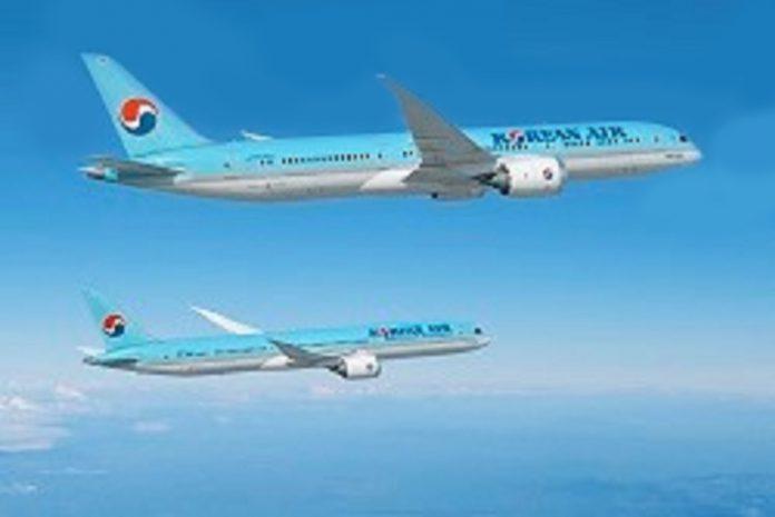 Korean Air encomenda 20 aviões Boeing 787 Dreamliner