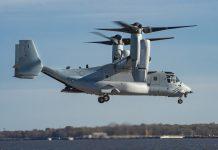 Bell Boeing entrega primeiro Osprey MV-22 modificado