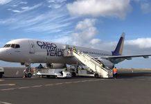 Cabo Verde Airlines recebe novo avião Boeing 757-200