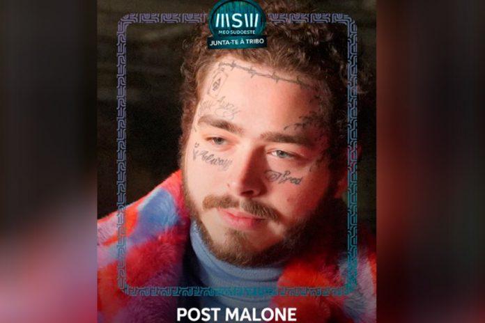 Post Malone, o rapper atua no Palco MEO na Zambujeira do Mar