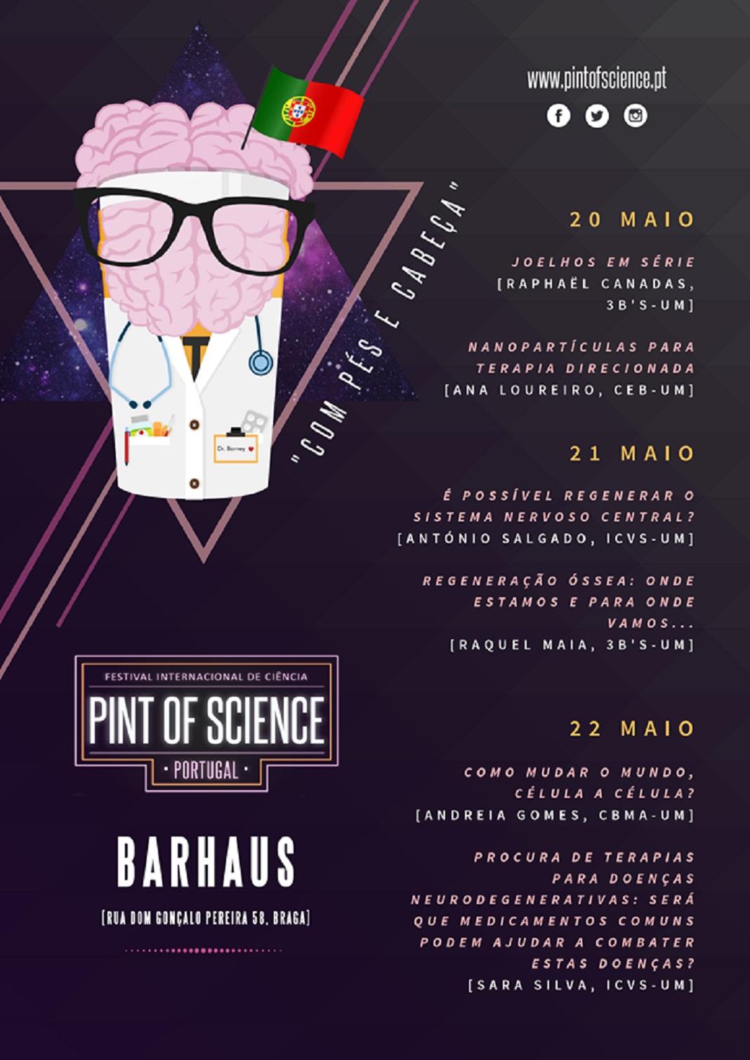 """Festival """"Pint of Science"""": 18 investigadores apresentam projetos em bares de Braga"""