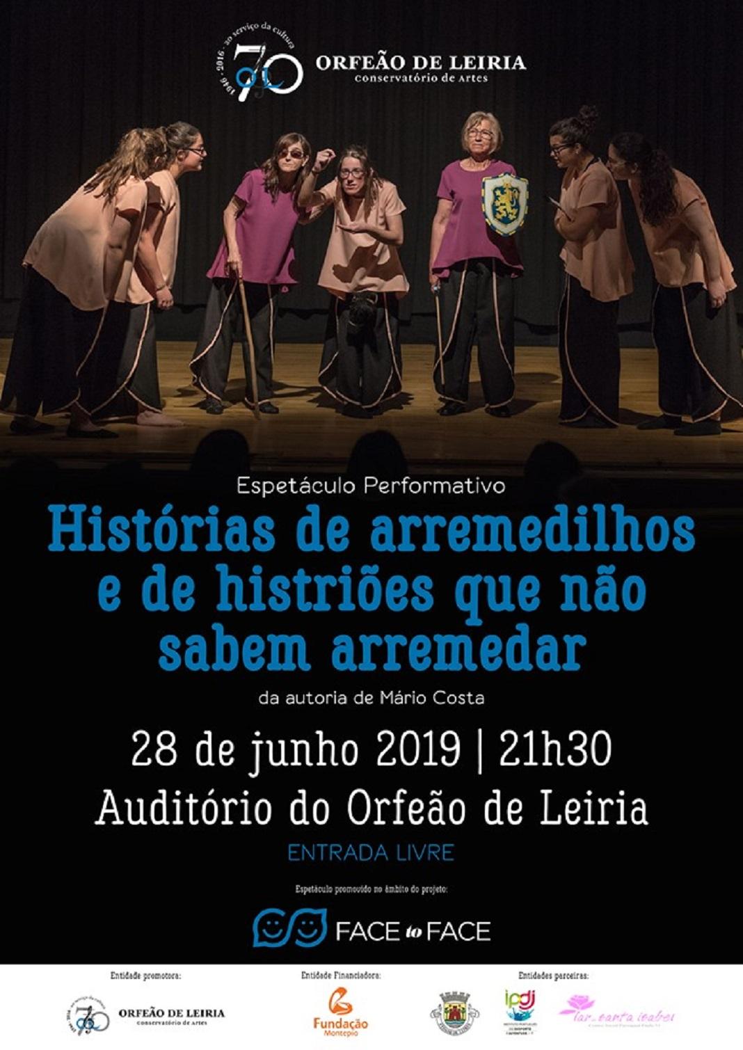 Orfeão de Leiria reúne jovens e seniores num espetáculo de dança e teatro