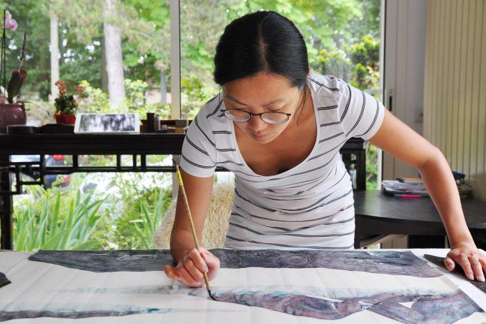 Museu do Oriente: Pintura ao vivo e visita à exposição com a artista Hong Wai