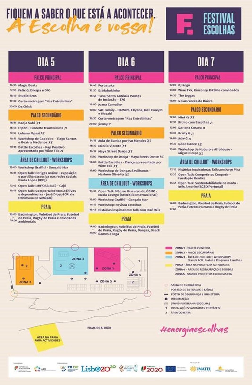 Festival Escolhas na Costa de Caparica
