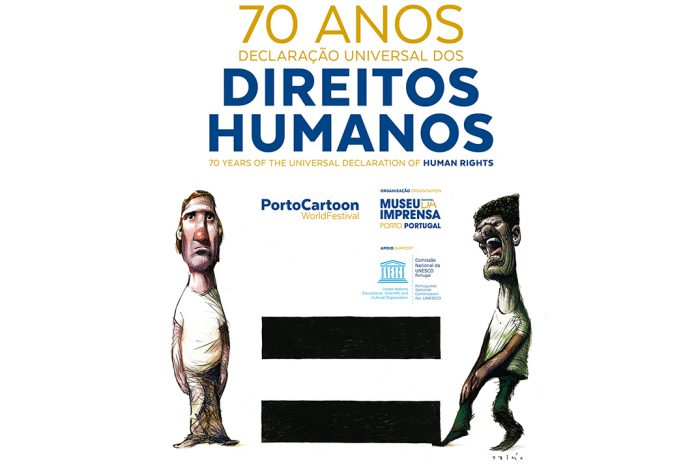 PortoCartoon em Campo Maior com humor a examinar Direitos Humanos