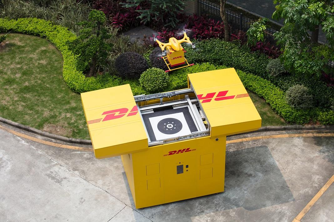 DHL Express inicia serviço de entrega de encomendas com drones