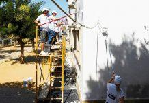 Escola Básica do Fojo em Moura pintada por voluntários