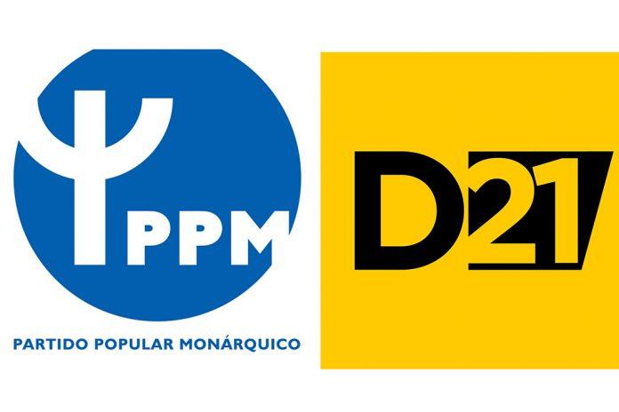 Democracia21 e Partido Popular Monárquico juntos às Legislativas