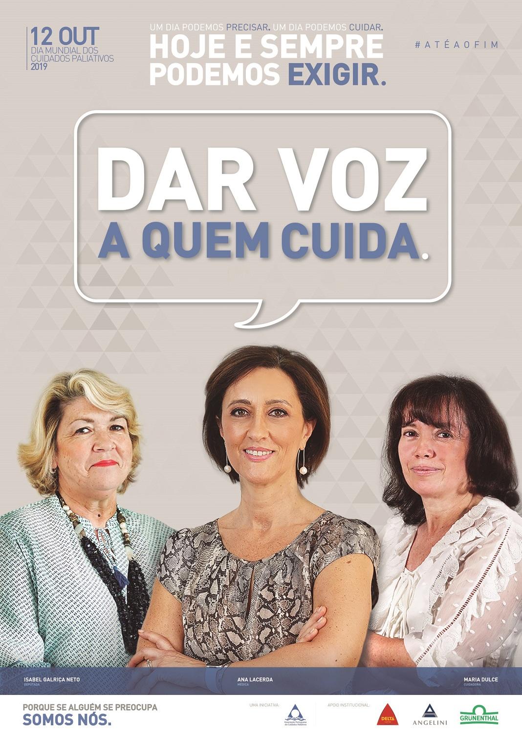 "Cuidados Paliativos: campanha ""Dar Voz a quem Cuida"""