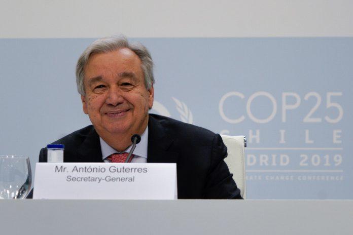 COP 25: António Guterres pede fim da guerra com o planeta