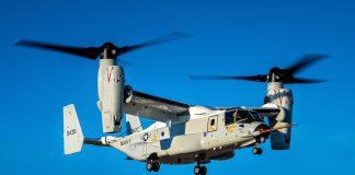 Boeing executa operações de voo com o primeiro CMV-22B Osprey