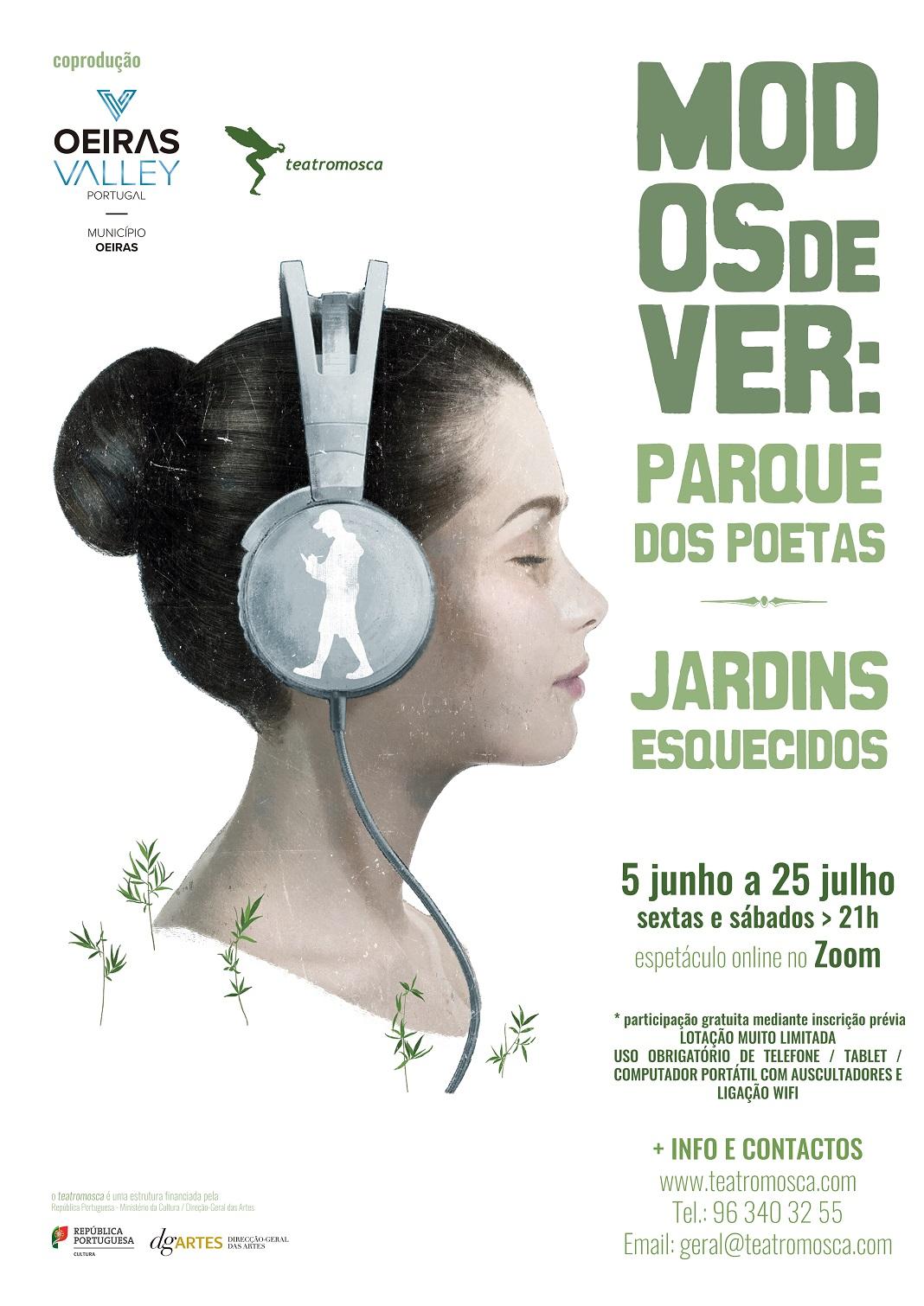 Produção multissensorial do teatromosca a partir do Parque dos Poetas em Oeiras