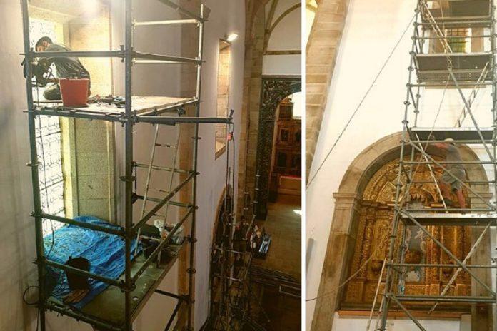 Vitrais da Concatedral de Miranda do Douro em restauro