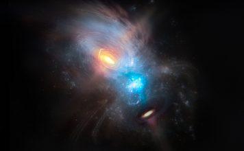 Imagem de dois buracos negros numa colisão galáctica teve colaboração de investigador português
