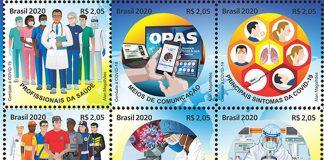 Correios do Brasil e OPAS lançam selos COVID-19