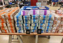 Apreendidos mais de 12 milhões de euros de trafego de droga