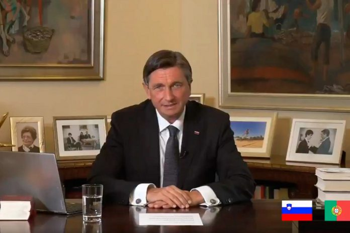Presidente da Eslovénia manifesta solidariedade para com os portugueses na luta conta a COVID-19