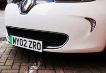 Chapas de matrícula verdes no Reino Unido para veículos de emissão zero