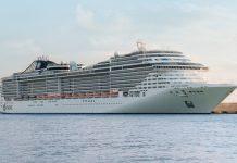 Navio de cruzeiro MSC Fantasia atracado em Lisboa já não tem passageiros a bordo