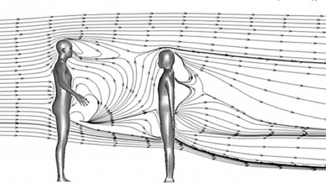 Gotículas de tosse são projetadas a mais de 6 metros