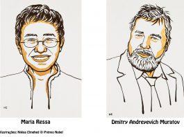 Prémio Nobel da Paz de 2021 atribuído aos jornalistas Maria Ressa e Dmitry Muratov
